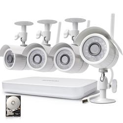 Zmodo 4CH NVR 720p Security Camera System